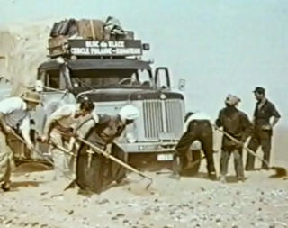 Ice block expedition Sahara