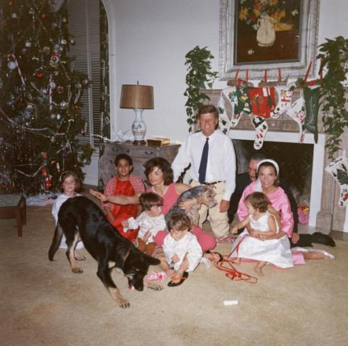 Kennedy Family At White House On Christmas
