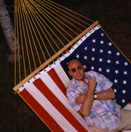 Hunter S. Thompson on American Flag Hammock