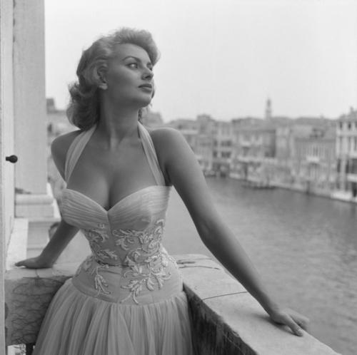 Sophia Loren, Venice, 1955
