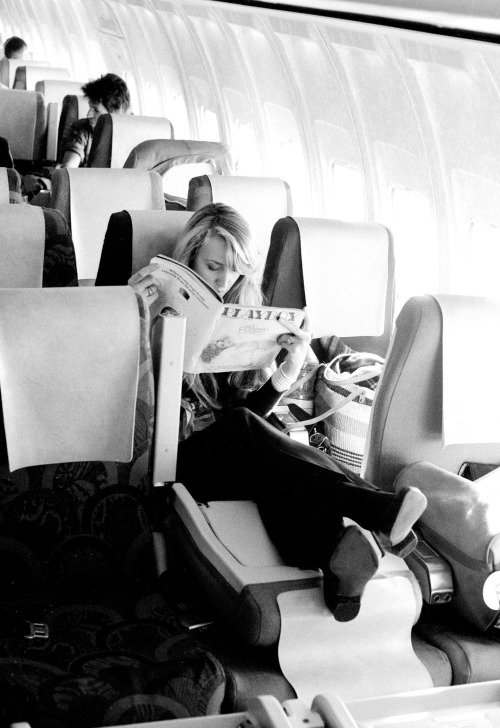 Jerry Hall The Rolling Stones On a plane from Scotland 1982 * Higher Rates Apply * © Michael Putland / Retna UK Credit All Uses